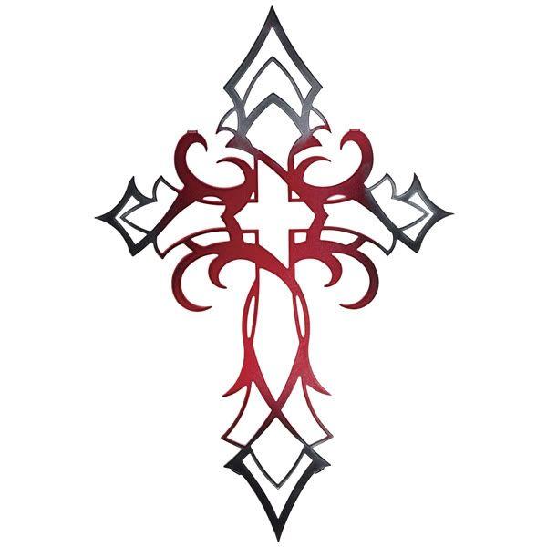 b2a16fad47c08d33ac16e654de2ce461 cross tatoos tribal cross tattoos