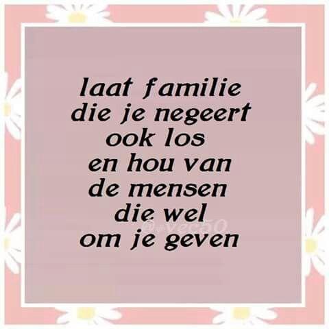 Laat familie die je negeert ook los ...