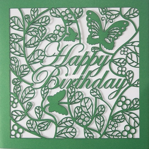 Paper Cutting - Happy Birthday