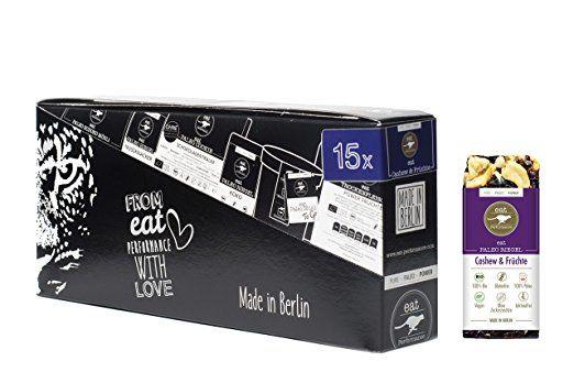 Energie Riegel Cashew & Früchte (15x 40g) von eat Performance (Vegan, Bio, Paleo, Müsliriegel ohne Zucker und Getreide, glutenfrei, laktosefrei, superfood)