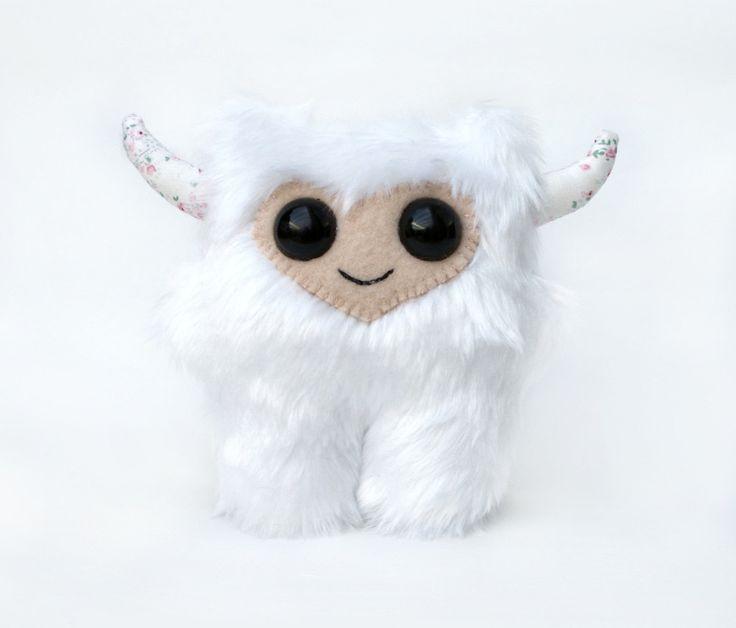 Cute White Baby Monster Custom Plush - Custom Made baby ...