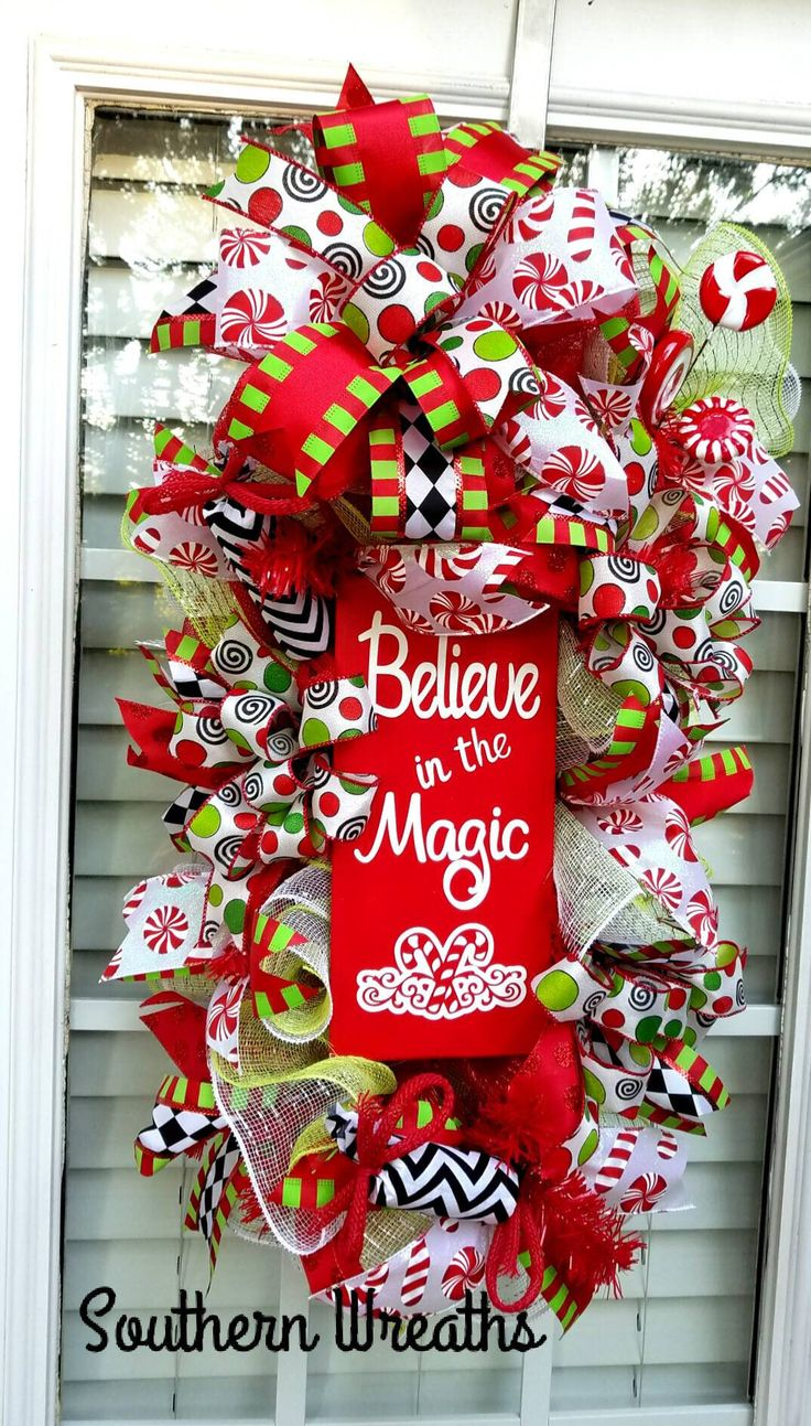 76 best magical and merry christmas wreaths images on pinterest christmas door swag christmas wreath candy cane christmas swag christmas wreath for front rubansaba