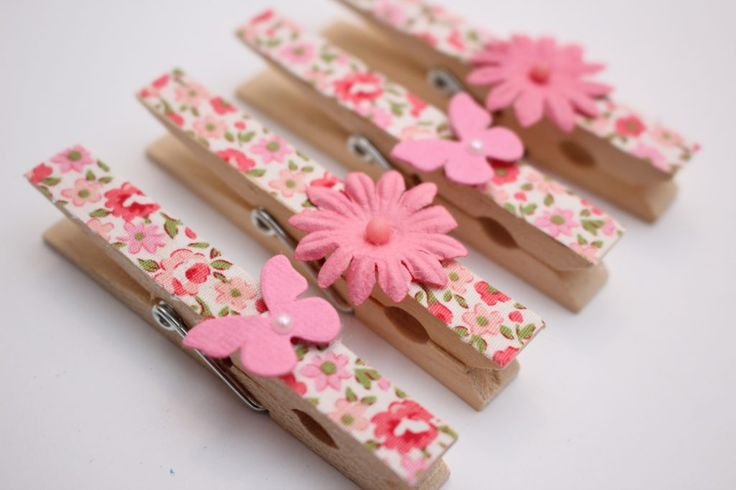 Hand painted clothespin magnets are simple to make and sell very well at craft shows! Use all types of embellishments to create amazing clothespin magnets!