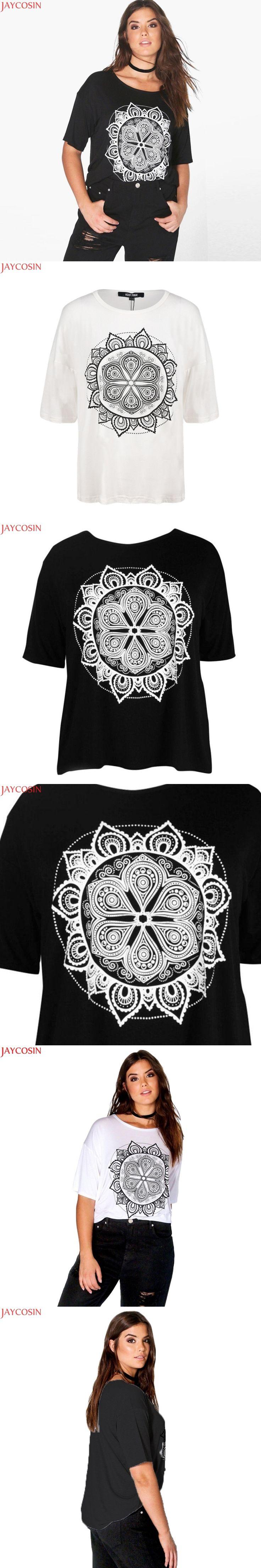 ssf2017 Grande Taille Nouvelles Femmes De Mode Clothing Casual De Base imprimer T-shirt Manches Courtes La Taille T-shirt