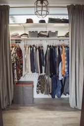 11.02.2020 - Flexible Aufbewahrung für Kleider mit Wenko Wäsche praktisch verstaut Kleiders...  Flexible Aufbewahrung für Kleider mit Wenko Wäsche praktisch verstaut Kleiderschrank DIY begehbarer Schrank Diele Schlafzimmer selbermachen Vorhängen    This image has get 1492 repins.    Author: Mrs Greenery #Aufbewahrung #flexible #für #Kleider #Kleiders #mit #praktisch #verstaut #Wäsche #Wenko