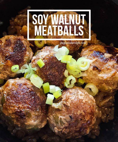 Soy Walnut Meatballs