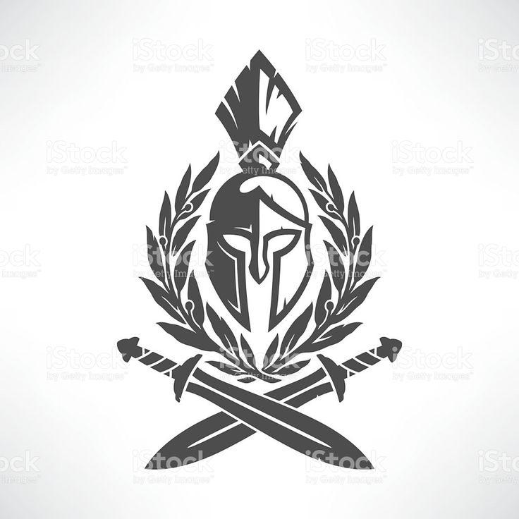 Sparta coat of arms vetor e ilustração royalty-free royalty-free