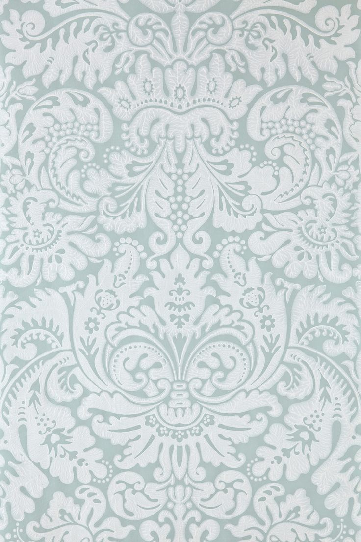 blue and white damask fabric