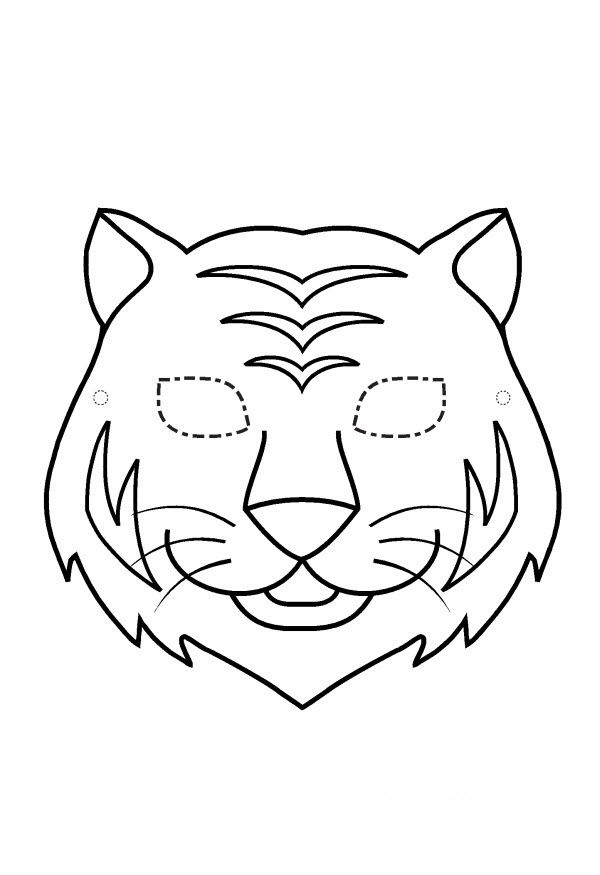 Pdf Masque Tigre En Noir Et Blanc Masque De Tigre Lion