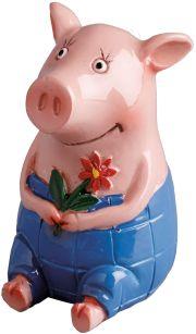 Gustav Glücksschwein - für ganz viel Schwein im neuen Lebensjahr! zum #Geburtstag, #Muttertag, die beste #Freundin ... die erste Figur mit extra viel Schwein von der tollen Illustratorin Katja Jäger