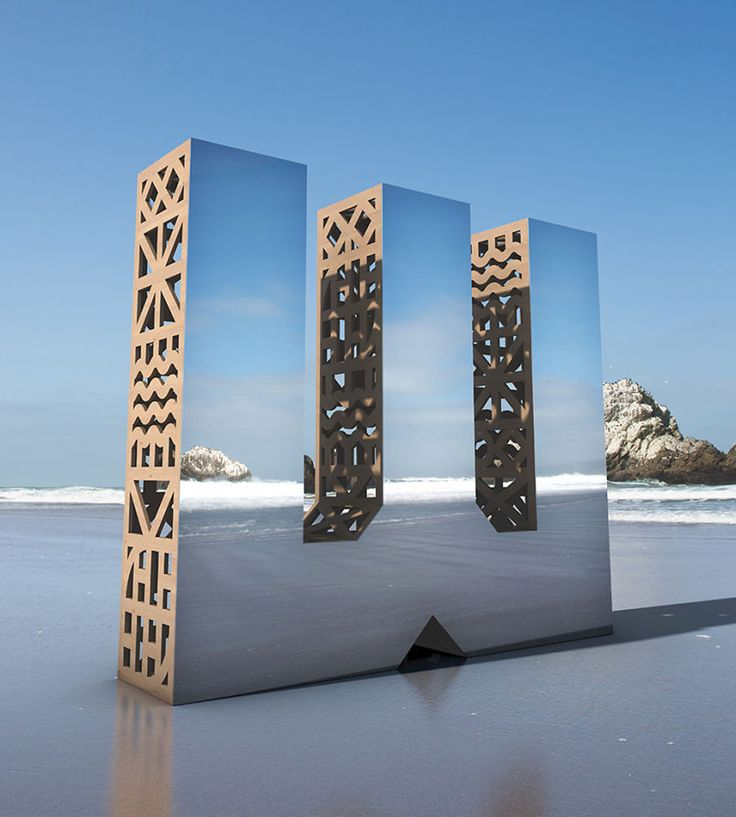 We Made Giant Mirror Letters In San Francisco To Show That Design Is All Around Us | Bored Panda
