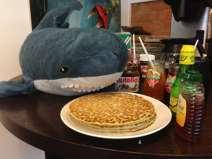 Hungry #PancakeDay! Although perhaps someone should explain the concept of sharing to Blue-Tooth.