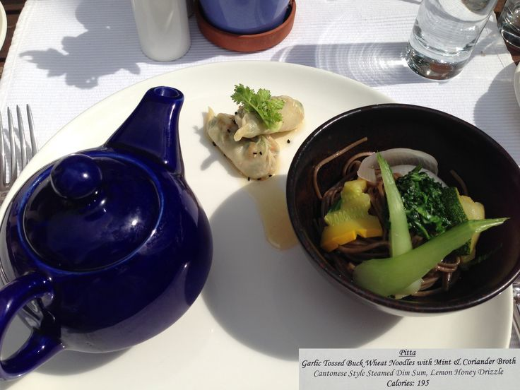 Ananda wellness menu - 24 September 2013 - Garlic tossed buckwheat noodles with mint & coriander broth #Ananda #Ayurveda