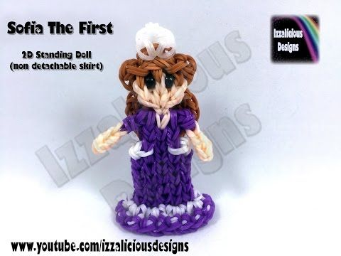 Rainbow Loom Princess Sofia The First Action Figure/Charm - 2D Standing Doll - YouTube