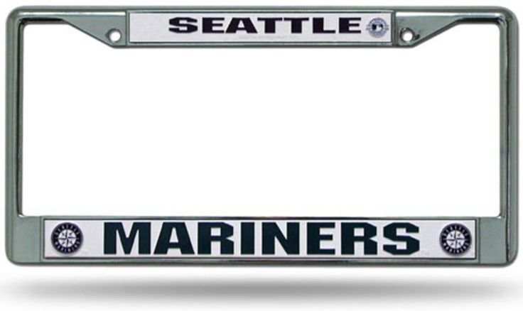 Chrome License Plate Frame - Seattle Mariners