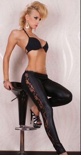 Supervalue-Ladys-Hole-Folding-Seamless-Skinny-Jegging-Faux-Jeans-Legging-pants