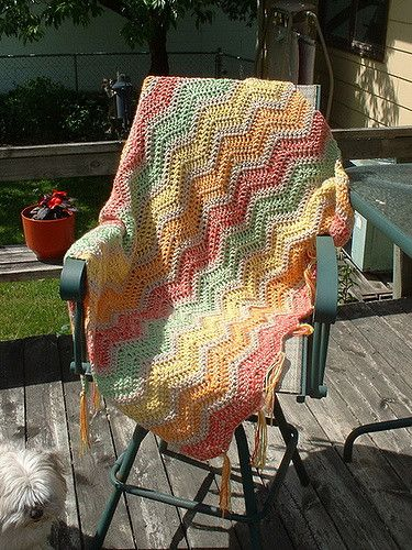 Ravelry: Sherbet Ripple Afghan pattern by Megan A.