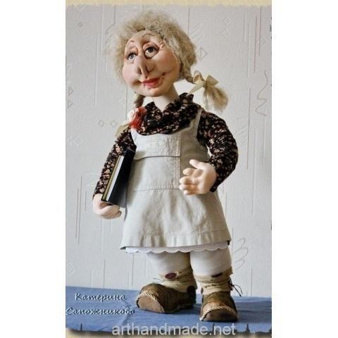 "Doll ""My first teacher"". Author Catherine Sapozhnikova - http://arthandmade.net/sapojnikova.ekaterina  Doll, textile doll, sculpture textile doll, interior doll, handmade doll, gift, original gift, interior, handmade, craft, Gallery Magical World, кукла, купить куклу, текстильная кукла, скульптурно-текстильная кукла, кукла ручной работы, подарок, оригинальный подарок, ручная работа, интерьер, Галерея Волшебный мир"