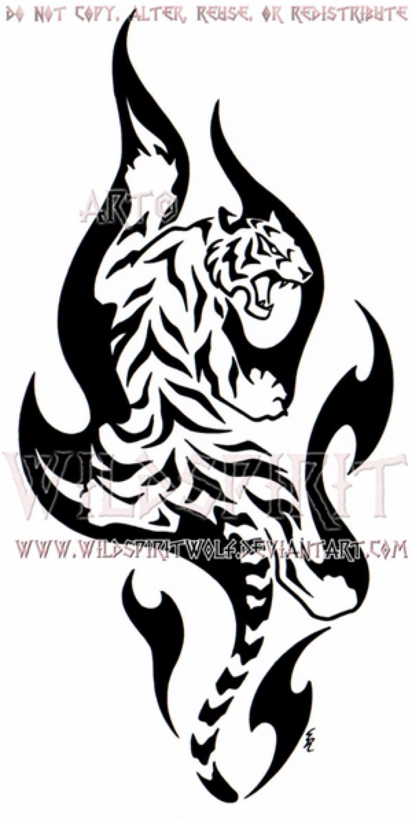 Climbing Flame Tiger Design by WildSpiritWolf on @DeviantArt