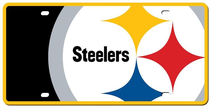 Pittsburgh Steelers License Plate - Acrylic Mega Style