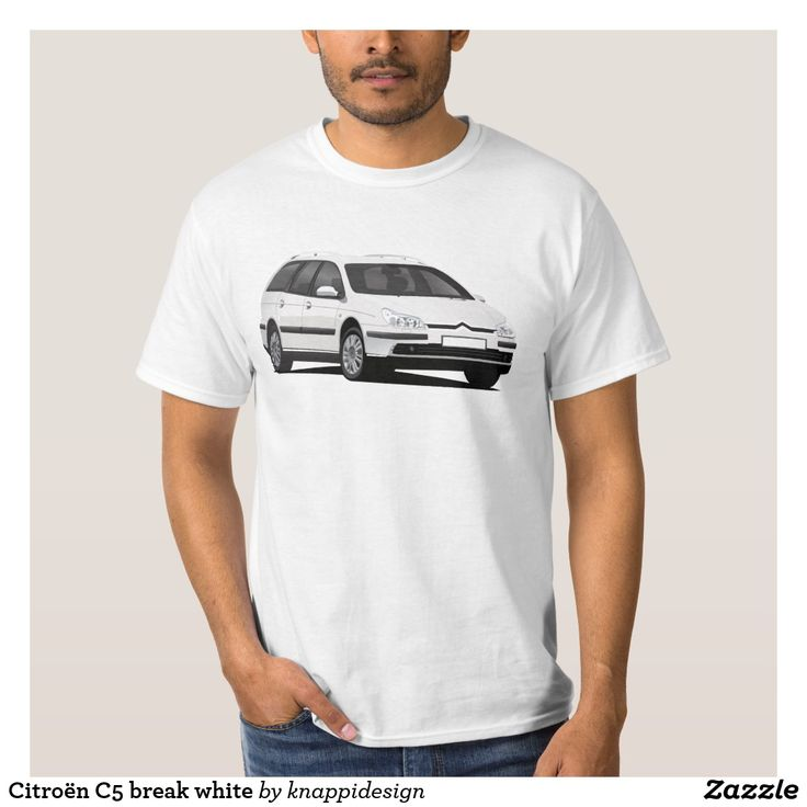 Citroën C5 break white tees.  #citroen #citroën #citroenc5 #citroënc5 #citroenc5break #frenchcars #automobile #automobileillustration #car #cartshirts #french #auto #bilar #tröja #sitikka