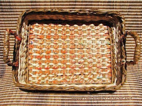 ▬► Плетение из газет квадратного дна -Часть1. / Bottom of the basket weaving - YouTube