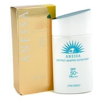 SHISEIDO by Shiseido Anessa Perfect Sparkle Sunscreen N SPF 50 PA+++--/2OZ by Shiseido. Save 5 Off!. $48.45. Anessa Perfect Sparkle Sunscreen N SPF 50 PA+++--/2OZ. Product Description A superior product to filter away harmful UVA/B rays for youthfulness Prevents formation of dark spots fine lines & dryness Contains tiny pearly molecules to reflect sunlight for natural glow of skin Lightweight & instantly melts into skin Waterproof sweat proof & absorbs excess sebum for full ...