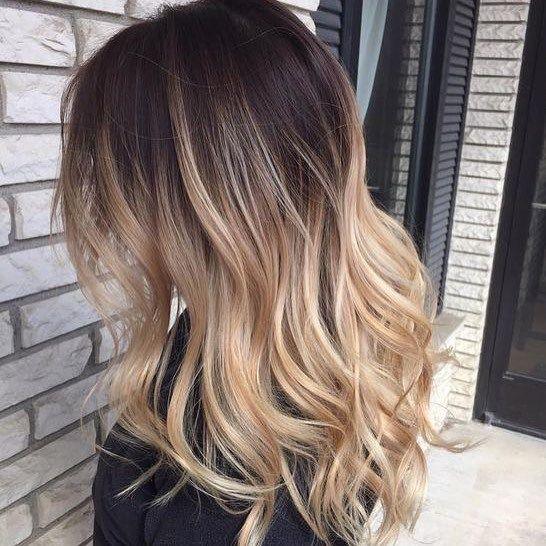 Blonde balayage hair #haircolor