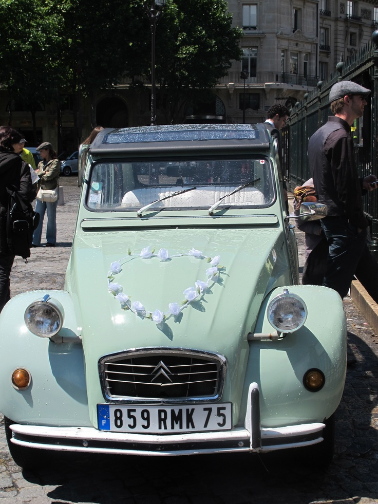 17 best images about wedding car on pinterest wedding for Decoration 2cv mariage