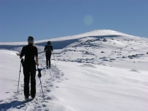 Mount Kosciuszko, Snowy Mountains, NSW, Australia - not too many people can say they've actually skiied UP this mountain! :)