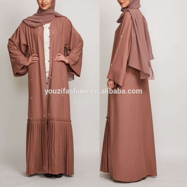 Check out this product on Alibaba.com App:Latest burqa design with bead Muslim dress abaya with buttom pleated front open maxi abaya burqa https://m.alibaba.com/aeUnei