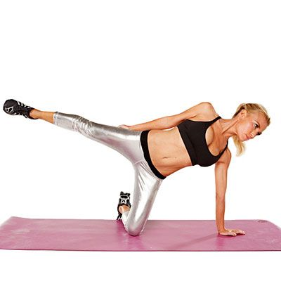Watch this video to get a serious head-to-toe and front-to-back workout with celebrity trainer, Tracy Anderson. | Health.com