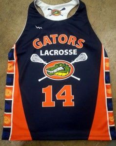 gators womens lacrosse pinnies - Custom womens lacrosse uniforms from Lightning Wear.  Made in Maryland USA.