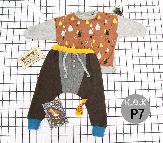 1+1 pdf pattern baby  pdf sewing pattern/ kids T-shirts and pants 2 sewing patterns / kids clothing/Toddler sewing pattern/ 6month-11years
