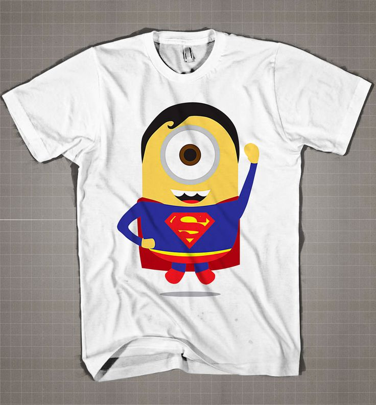 Superman Minion  Mens and Women T-Shirt Available Color Black And White