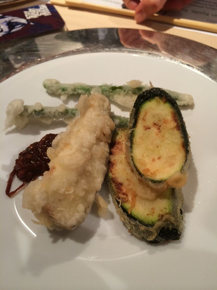 "Cooking with Miso: miso flavoured tempura  Fushiki san at La Cucina Italiana ""miso class"""