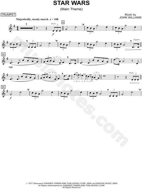 Star Wars trumpet sheet music