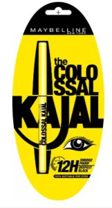 Flipkart  Buy Maybelline The Colossal Kajal 0.35 g  (Deepest black) at Rs 90