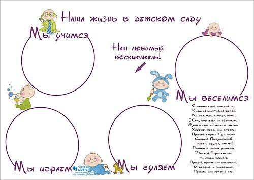 Стенгазета в детском саду