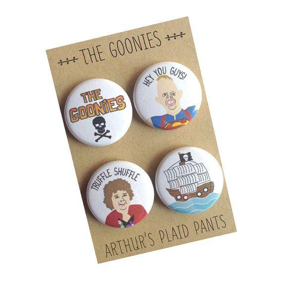 The Goonies The Goonies magnet Goonies badges by ArthursPlaidPants