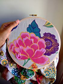 The Curiosity Project: DIY Embroidered Hoops
