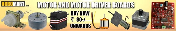 Are you looking to buy online motor for robotics and engineering project? Don't worry, Robomart have huge inventory of gear dc motors, BO motors, high torque dc motors, stepper motors, plastic gear motor, Servo Motor, brushless (bldc) motors, quadcopter dc motors, micro mouse motor, engineering and college projects motors, line follower robot motors etc.