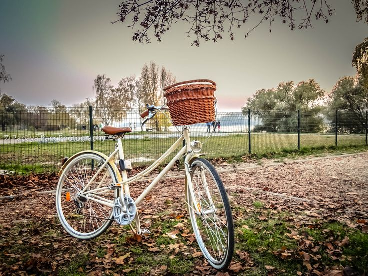 Bicycle at the Banks of the Danube in Vác, Hungary.