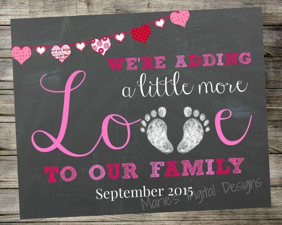 Printable Pregnancy Announcement Adding by MariesDigitalDesigns