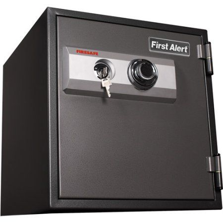 First Alert 2084F 1.2 Cubic Foot Steel Fire/Anti-Theft Combination Safe, Gray