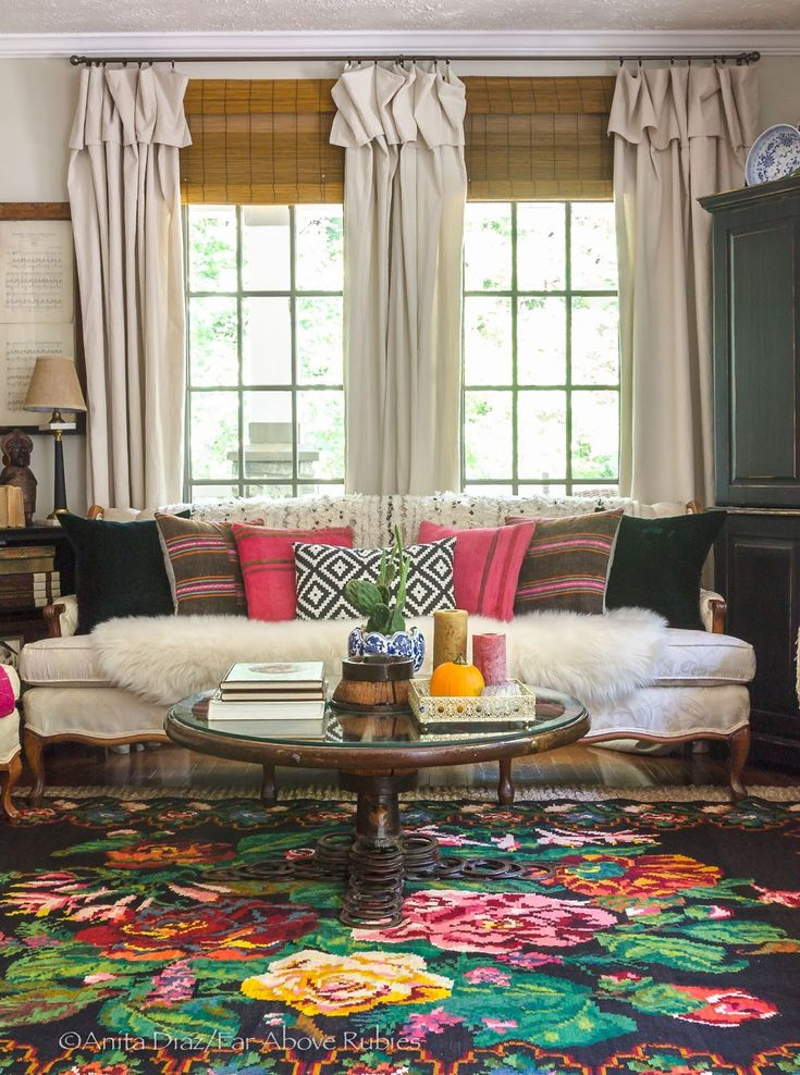 Gorgeous Bohemian Living Room Love The Color Mix In Pink And Orange Far Above