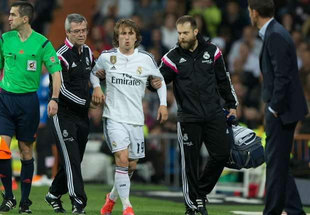 Modric, Robben and the players injured or suspended for Champions League