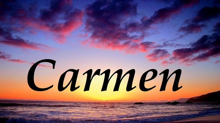 Carmen, significado y origen del nombre