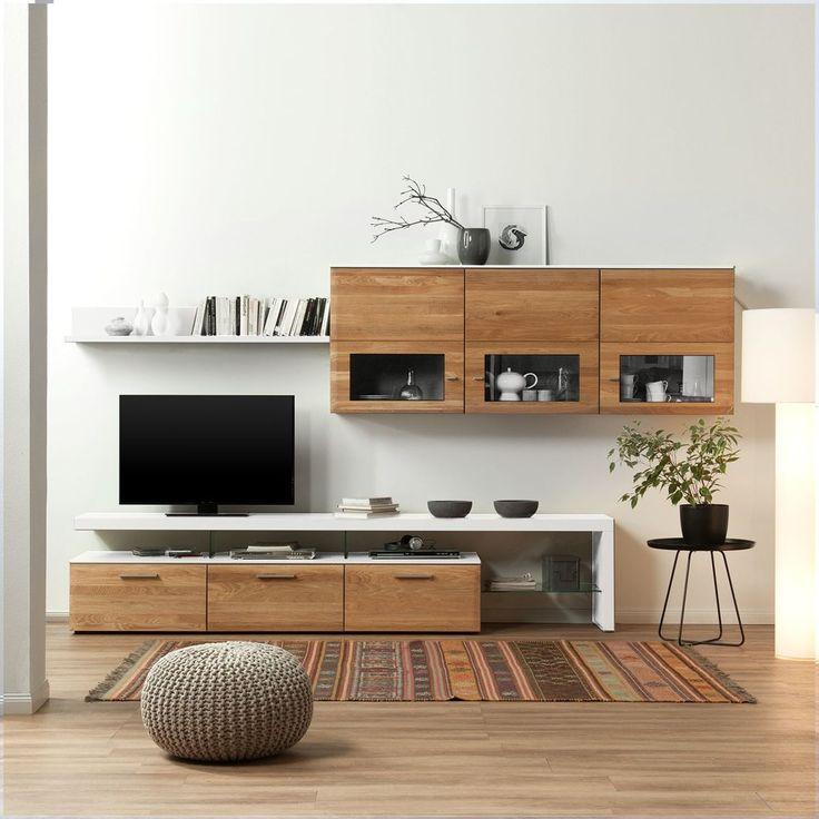 The 25+ best Holz wohnwände ideas on Pinterest | Innenwände, Tv ... | {Esszimmerschrank modern braun 57}