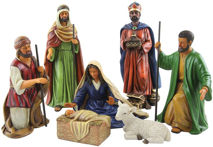 One of our newest African-American Nativity Figurine sets. This is a high quality seven piece set perfect for those seeking African-American Christmas Decor.